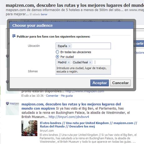 elige tu audiencia, facebook segmenta mensajes para tus fans