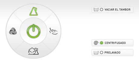 Diseño del panel de control de una lavadora sencilla